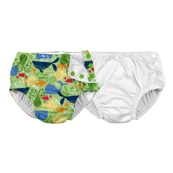 Snap Reusable Absorbent Swim Diaper (2 pack)