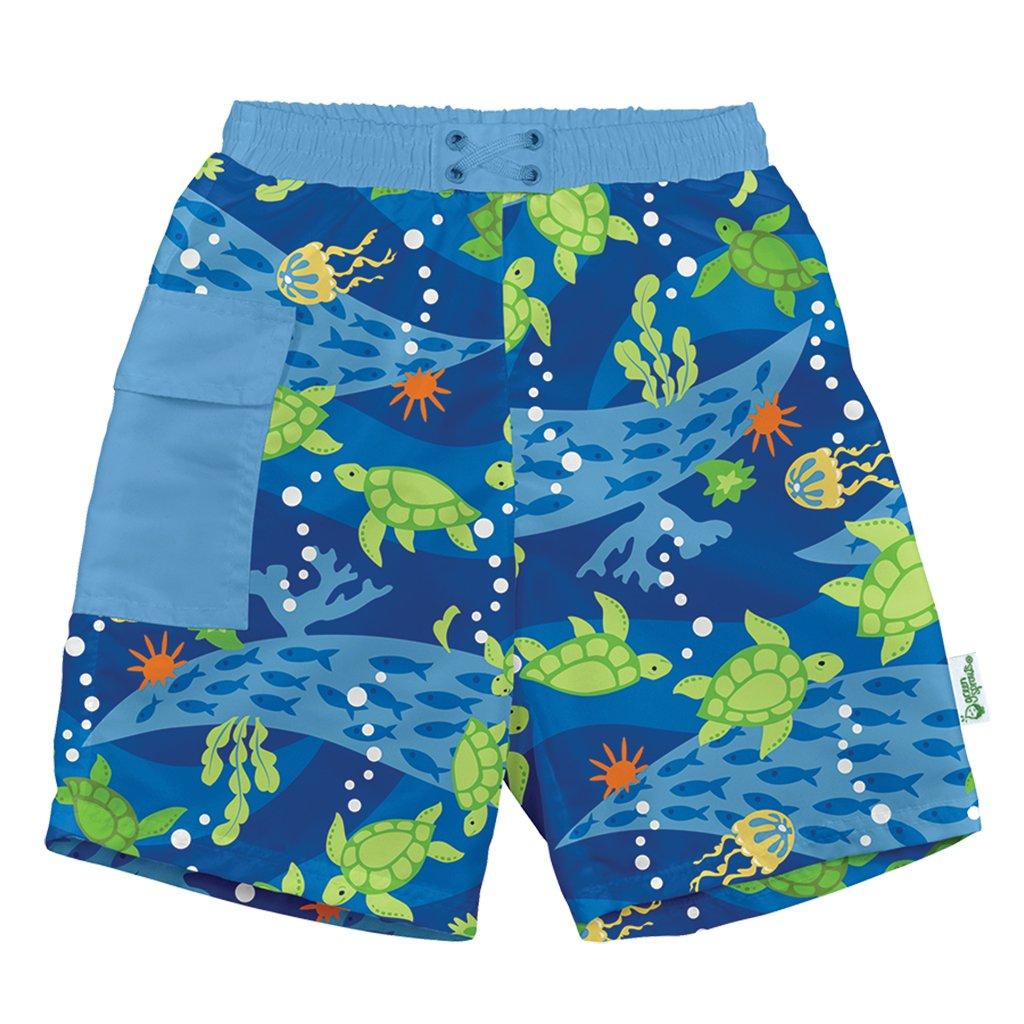 Aqua Octopus by green sprouts Boys Baby Classic Trunks with Built-in Reusable Absorbent Swim Diaper i play 12mo