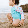 Two-piece Rashguard Set with Snap Reusable Absorbent Swim Diaper - original