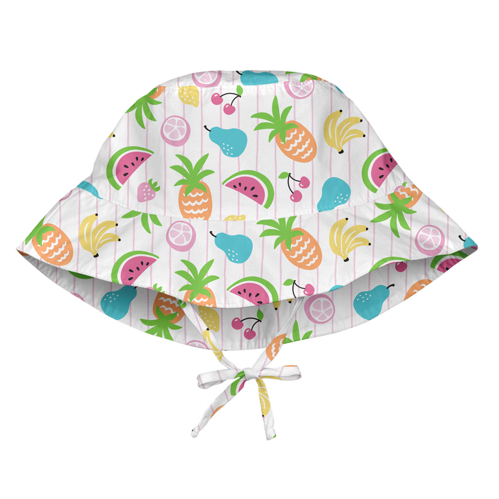 White Fruit Bucket Sun Protection Hat