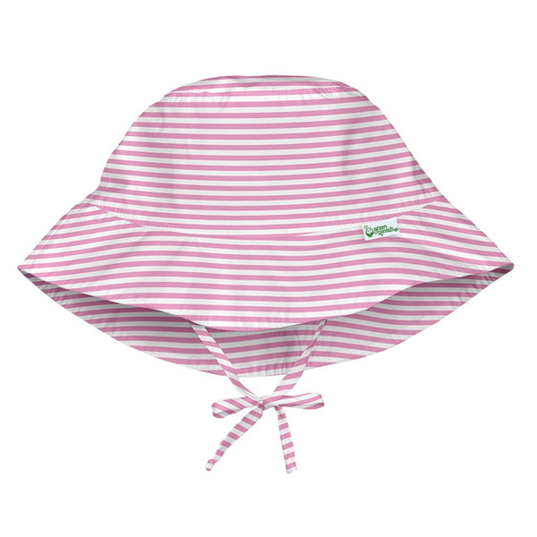 Light Pink Pinstripe Bucket Sun Protection Hat