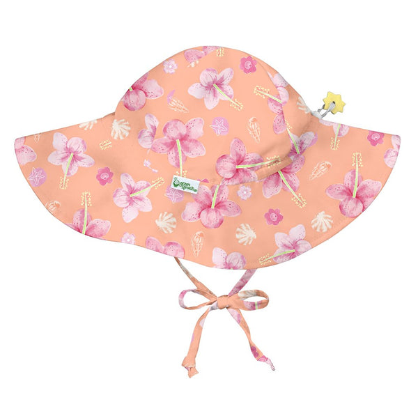 Coral Hibiscus Brim Sun Protection Hat