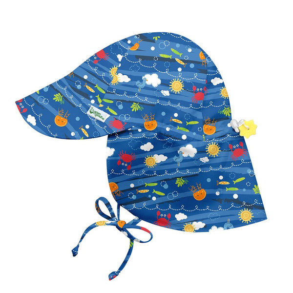 Royal Blue Sea Friends Flap Sun Protection Hat