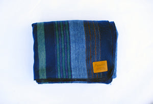 Blue Alpaca Blanket - River Run
