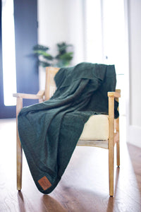 Green Alpaca Blanket - Forever Green