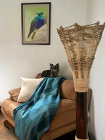 Limited Edition - Teal and Beige Alpaca Blanket - Shore Line