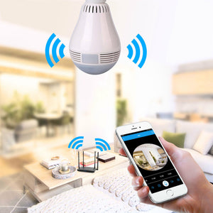 360° Fish Eye Bulb Panoramic IP Camera