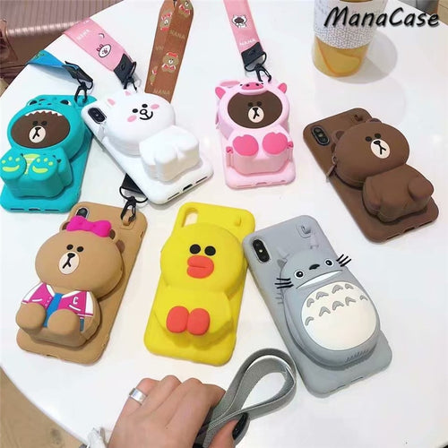 Cute 3D Wallet Case