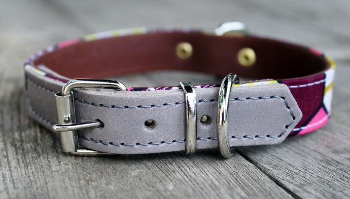 COLLAR PINK MOUTARDE GREY