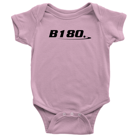 B180 Logo Short Sleeve Baby Bodysuit - B180 Basketball