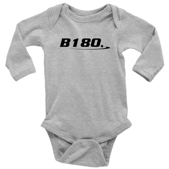 B180 Logo Long Sleeve Baby Bodysuit - B180 Basketball