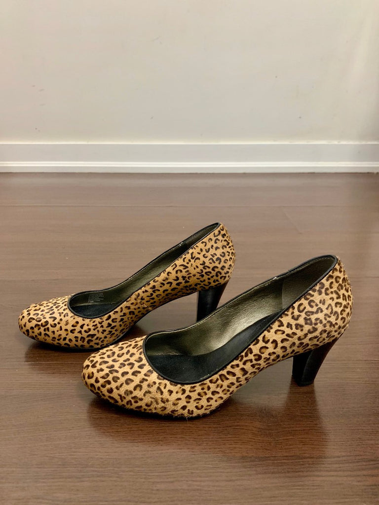 Banana Republic Faux Animal Fur Pumps