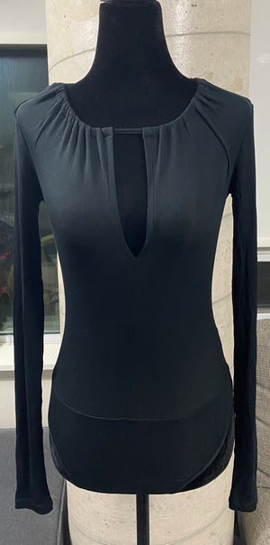 Zara Trafaluc Long Sleeve V-Neck Top