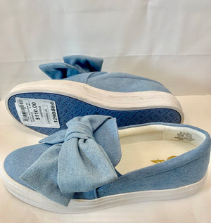 Nine West Denim Blue Slip On