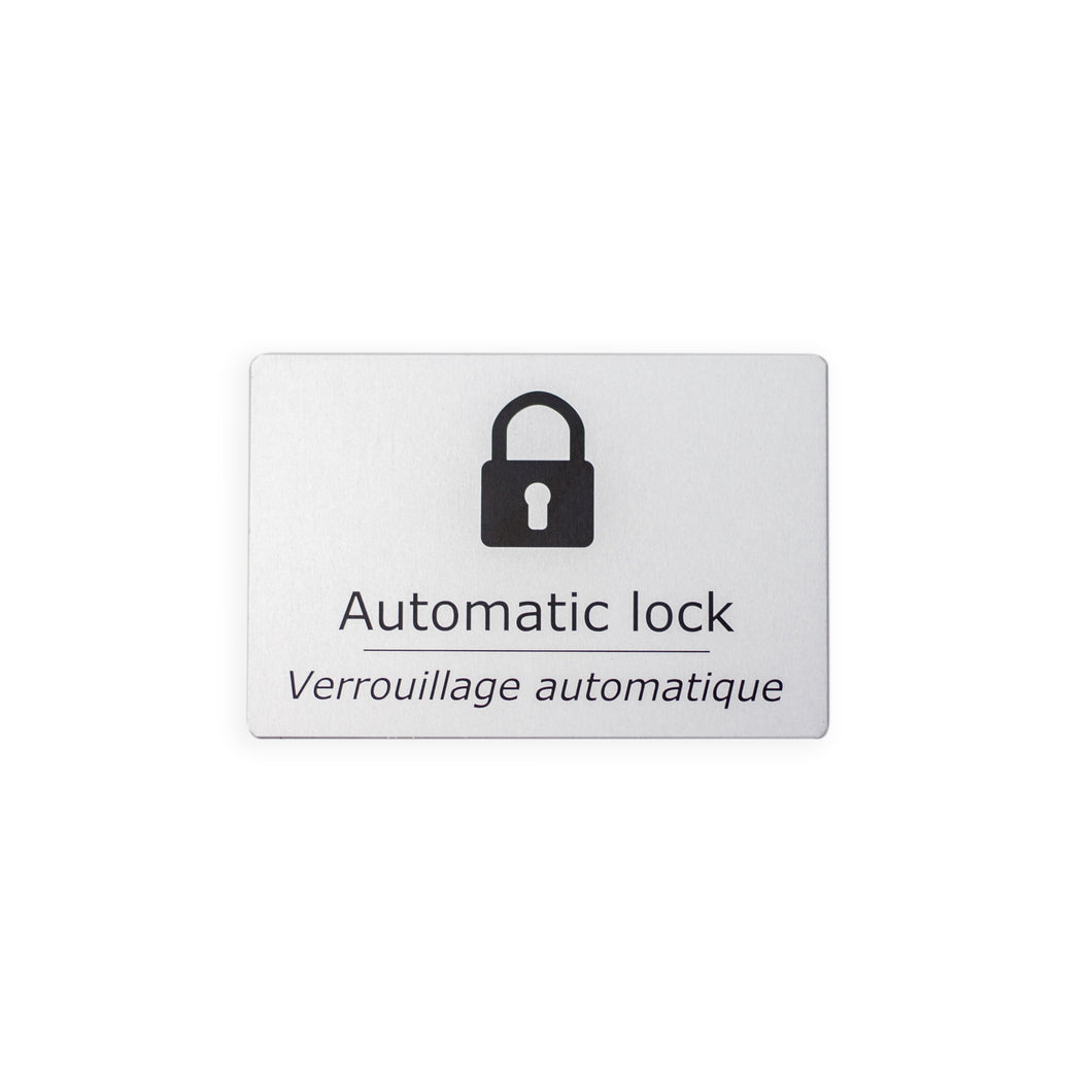 Automatic Lock Door Sign [For Accessible Washroom]
