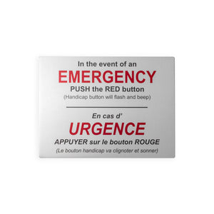 Emergency Sign [Accessible Washroom]