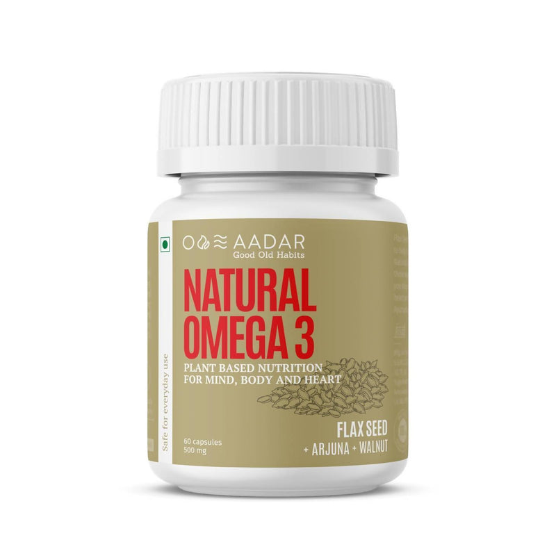 AADAR Natural Omega 3 Capsules For Brain, Heart and Joints