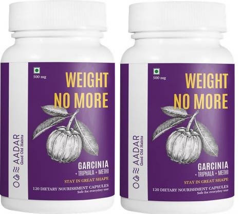 AADAR WEIGHT NO MORE Capsules Natural Weight Loss and Belly Fat Burner for Men and Women | Pack fo 2