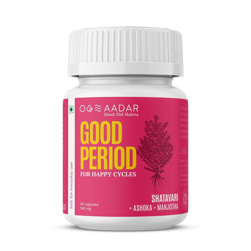 AADAR Good Period For Hormone Balance, Period Pain relief, PCOD, PCOS and Mood Swings | 60 Capsules - Trell Shop