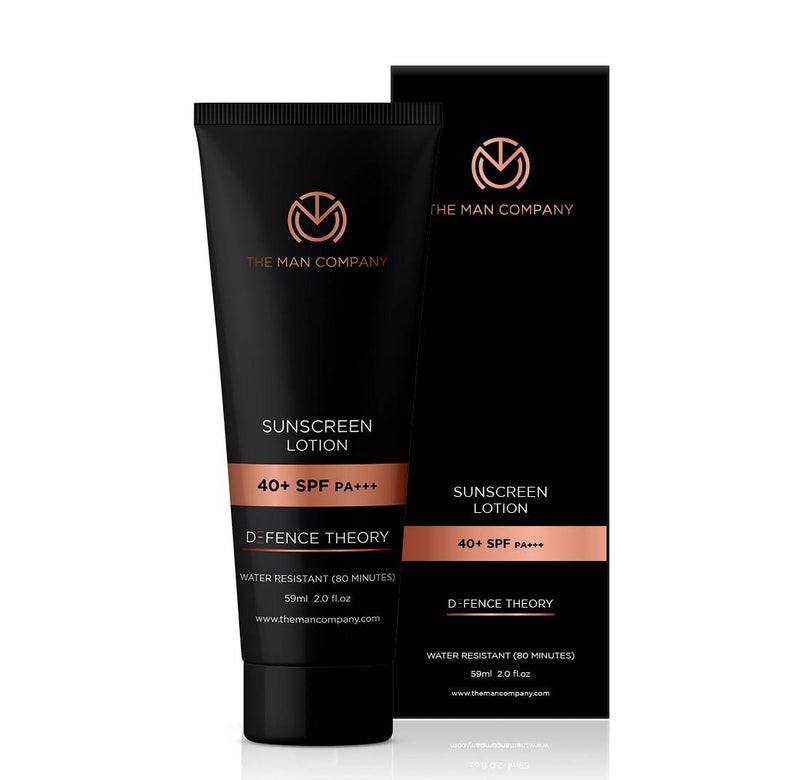 The Man Company Water Resistant Sunscreen Lotion 40+ SPF PA+++, 59 ml