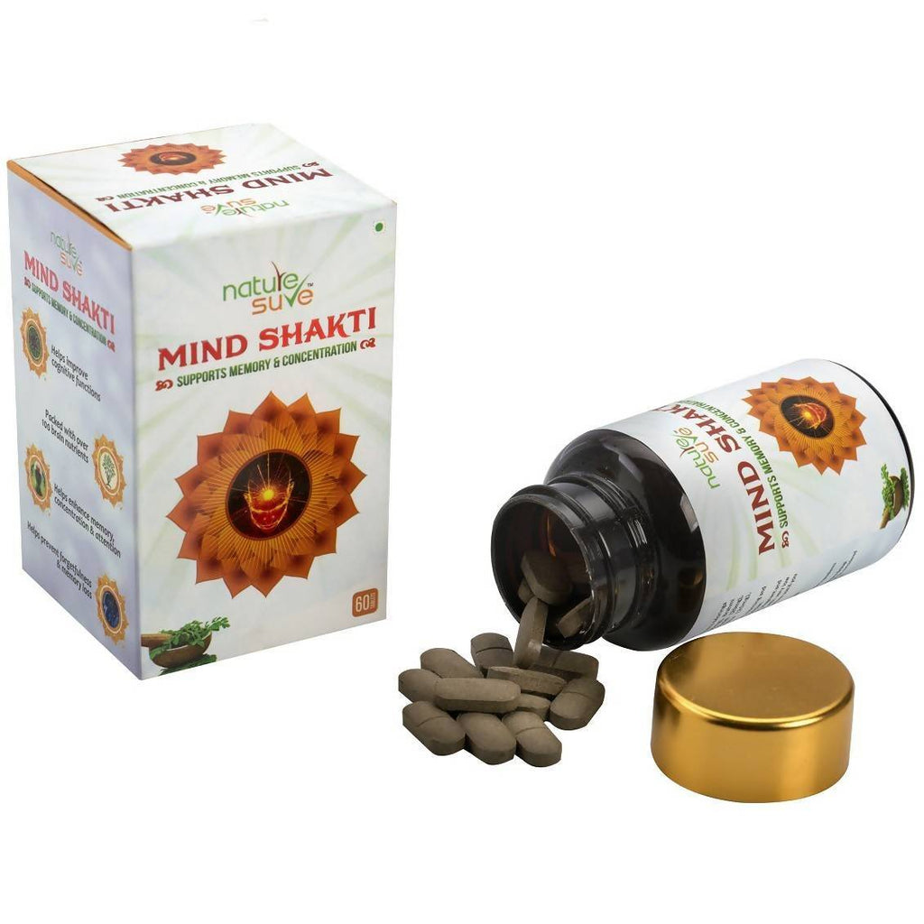 Nature Sure Mind Shakti Tablets for Memory & Concentration in Men & Women(60N)