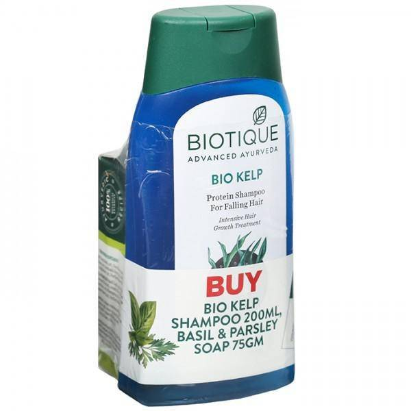 Biotique Bio Kelp Protein Shampoo With (Biotique Basil & Parsley Soap 75 g) 200 ml