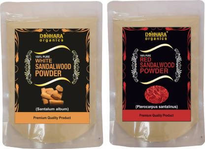 Donnara Organics White Sandalwood Powder & Red Sandlwood Powder (300 g)