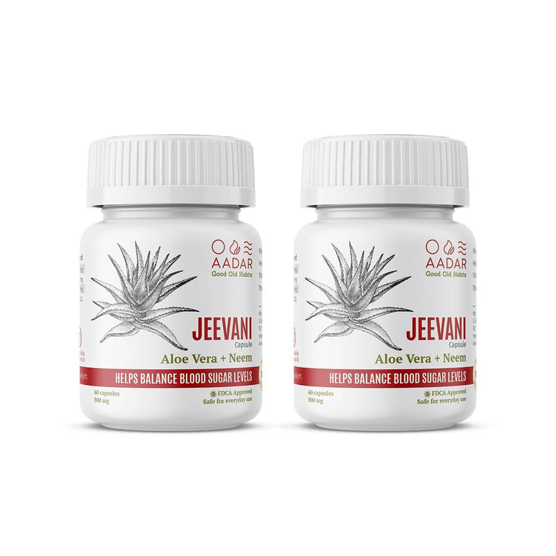 AADAR JEEVANI Capsules Pack of 2 For Natural Blood Sugar Control and Body Detox - Trell Shop