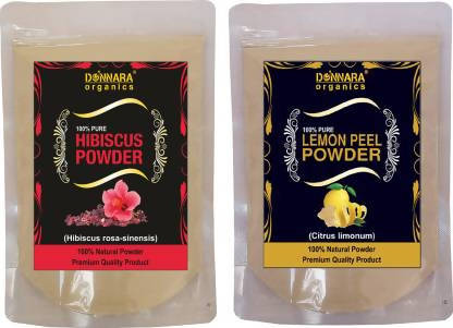 Donnara Organics Hibiscus Powder & Lemon Peel Powder (300 g)