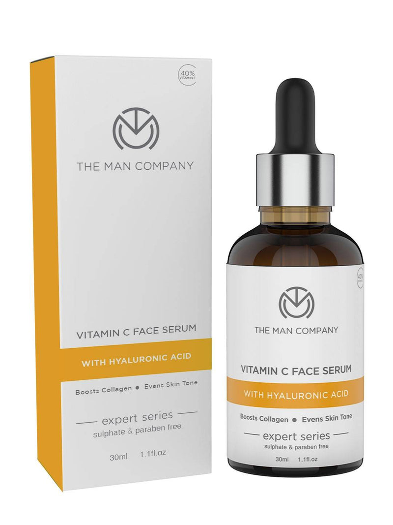 The Man Company Vitamin C Face Serum for Radiant Skin with high Potency of 40% Vitamin C and Hyaluronic Acid, 30ml