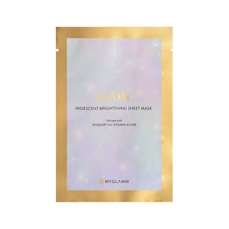 Myglamm Glow Iridescent Brightening Sheet Mask Rosehip Extract Vitamin Elixir