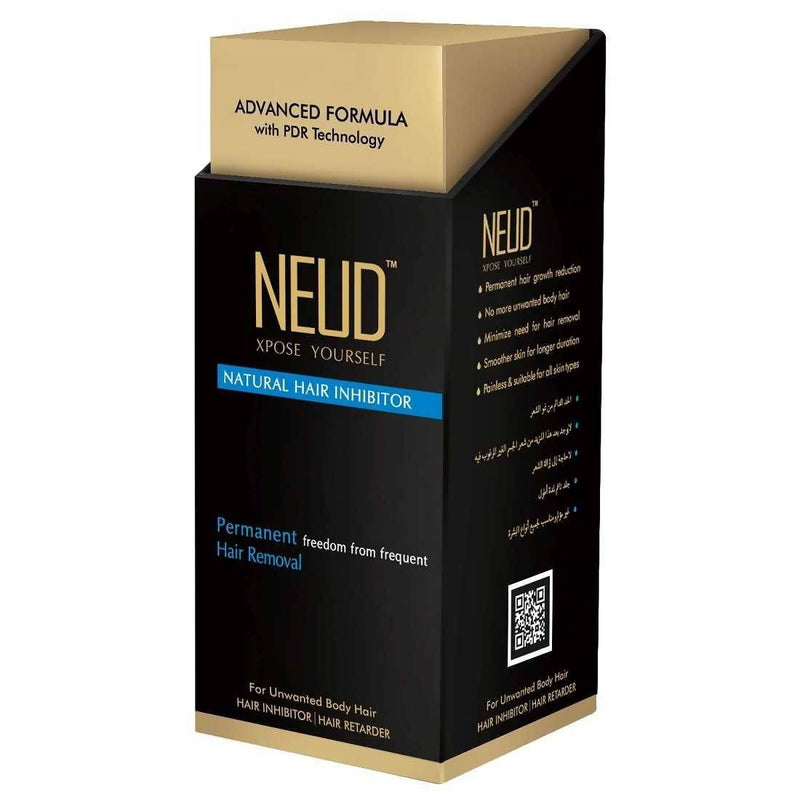 NEUD Natural Hair Inhibitor for Permanent Reduction of Unwanted Hair in Men & Women(100gm)
