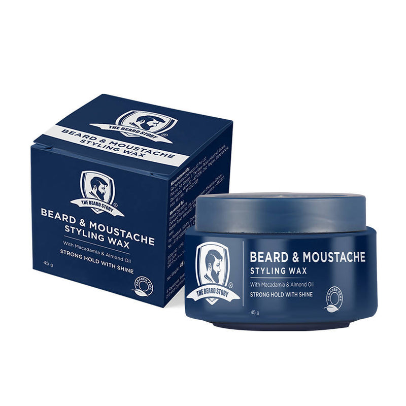The Beard Story Beard & Moustache Styling Wax,Strong Hold with Shine, 45 g