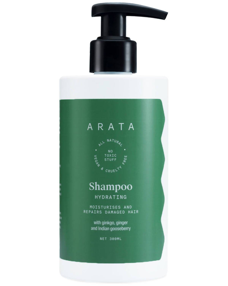Arata Natural Hydrating Hair Shampoo With Ginkgo, Ginger & Indian Gooseberry For Men & Women | All-Natural, Vegan & Cruelty-Free | Moisturizes & Repairs Damaged Hair - (300 ML) - Trell Shop