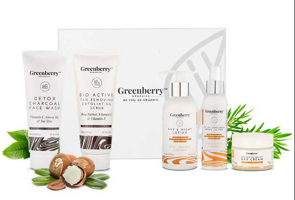 Greenberry Organics Sun Defense Box with 5 Full Size Products (All Skin Types)