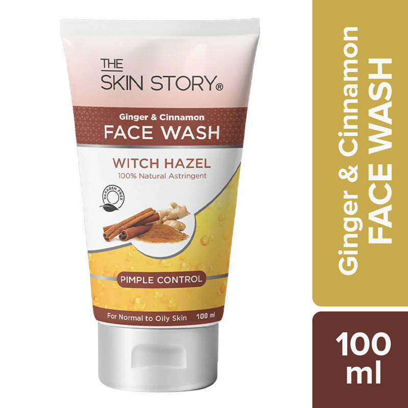 The Skin Story Ginger & Cinnamon Facewash ; Pimple Control, 100 ml