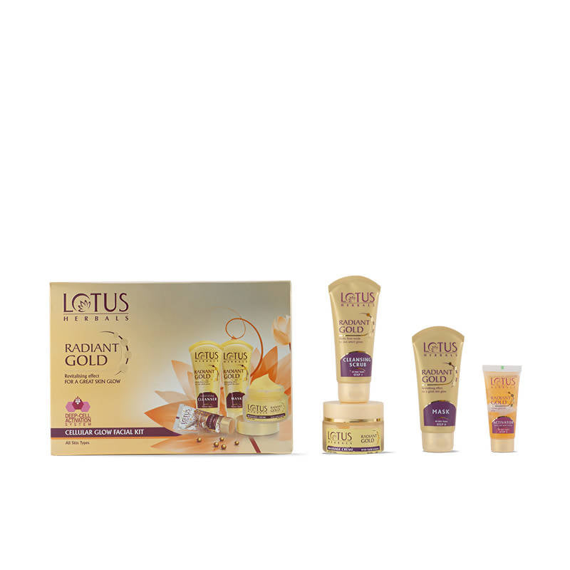 Lotus Radiant Gold Cellular Glow Facial Kit Kit