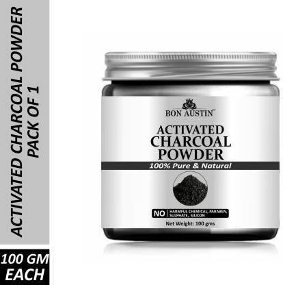 Bon Austin 100% Pure & Natural Activated Charcoal Powder(100 Gms) (100 g)