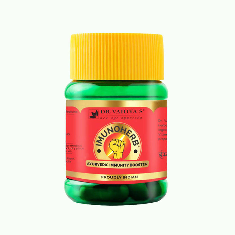 Dr. Vaidya's Imunoherb Immunity Booster Capsules - Pack of Three |30 Capsules Each - Pack of 3