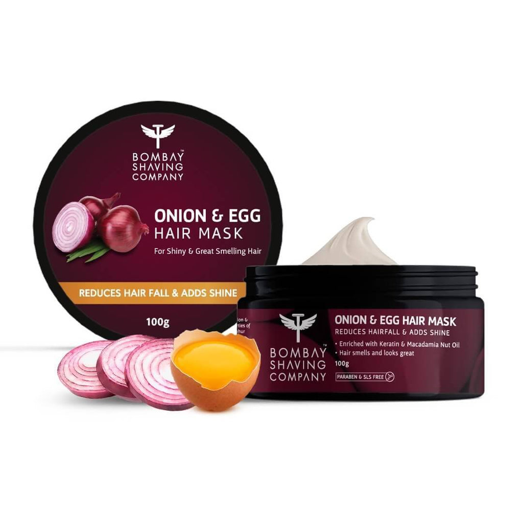 Bombay Shaving Company Onion & Egg Hair Mask for Hair fall & Dandruff Control