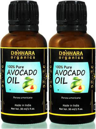 Donnara Organics 100% Pure & Natural Avocado oil Combo pack of 2 bottles of 30 ml(60 ml) Hair Oil (60 ml)