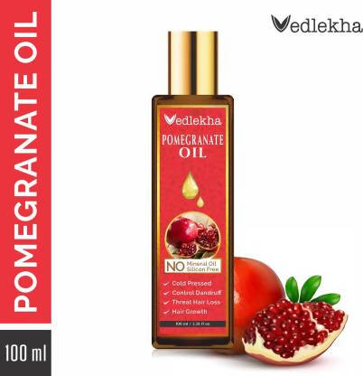 Vedlekha 100% Pure & Natural Pomegranate Seed For Hair, Body, Skin- Hair Oil (100 ml)