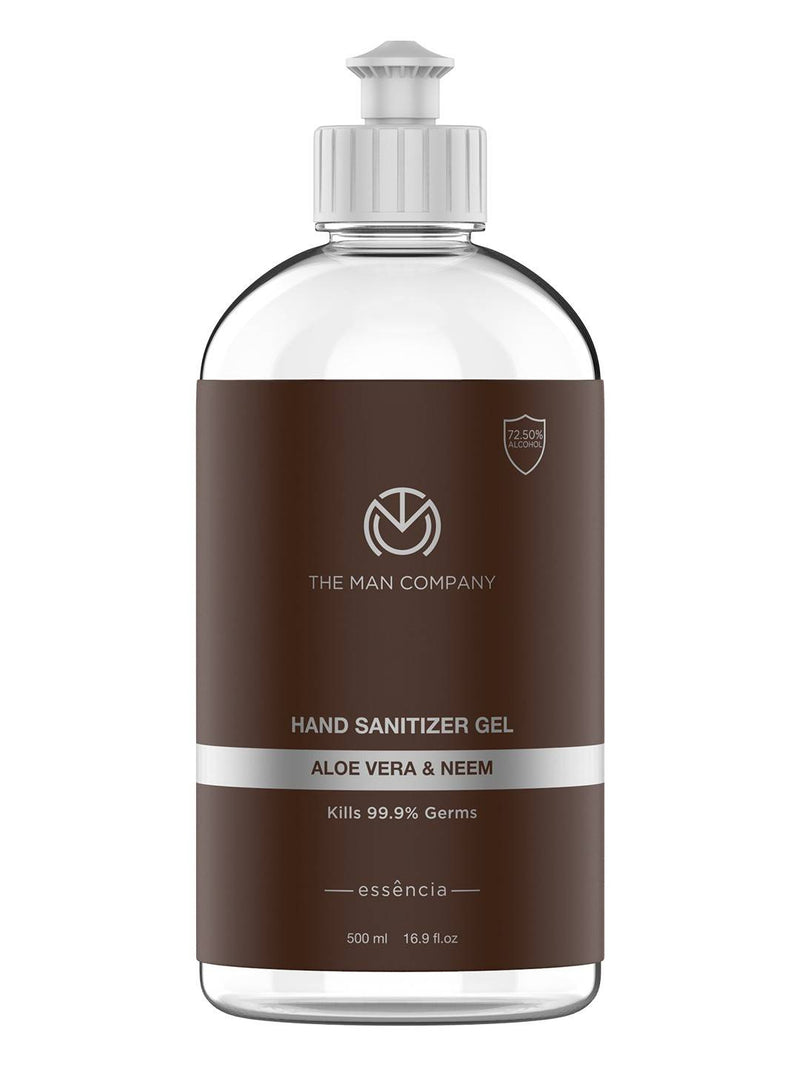 The Man Company Hand Sanitizer Gel (72.5 % Alcohol) with Aloe Vera & Neem- 500ml (Type C)