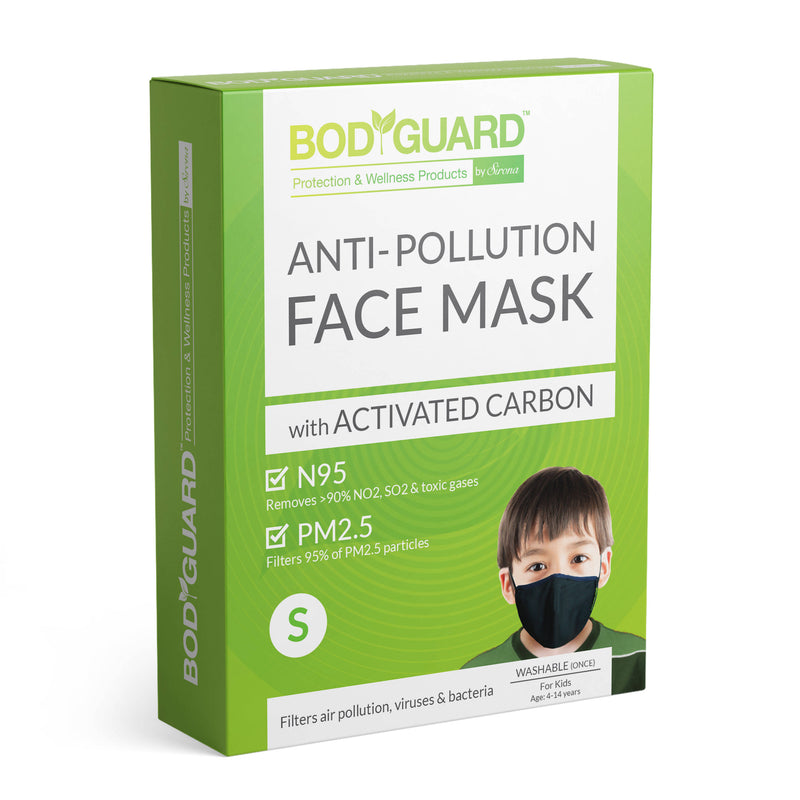 BodyGuard N95 + PM2.5 Anti Pollution Face Mask with Activated Carbon - Small