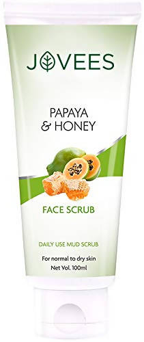 Jovees Facial Scrub, Papaya and Honey, 100 g