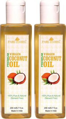 Park Daniel Virgin Coconut Oil - Pure and Natural Combo of 2 bottles of 100 ml(200 ml) (200 ml)