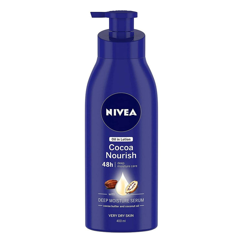 NIVEA Body Lotion, Oil in Lotion Cocoa Nourish, For Very Dry Skin, 400ml
