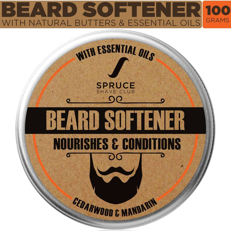 Spruce Shave Club Beard Softener | Natural Beard Cream | Cedarwood & Mandarin