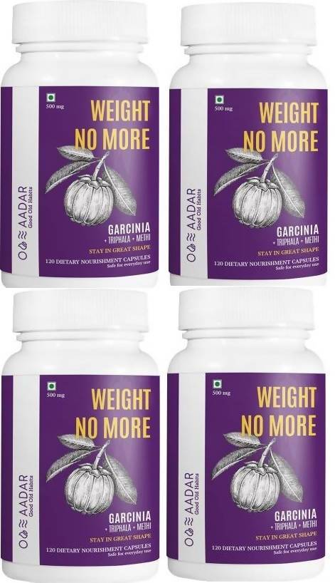 AADAR WEIGHT NO MORE Capsules Natural Weight Loss and Belly Fat Burner for Men and Women | Pack fo 4