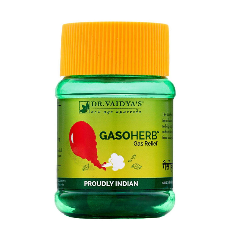 Dr. Vaidya's Gasoherb Pills- Ayurvedic Treament for Gas and Indigestion - Pack of 2